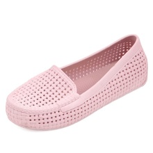 2015 new summer shoes breathable hollow flat shoes Baotou hole ladies sandals female sets Jiaoruan bottom garden shoes #B1153