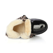 Winter children boots boys girls snow boots student fashion warm shoes kids artificial leather fur child