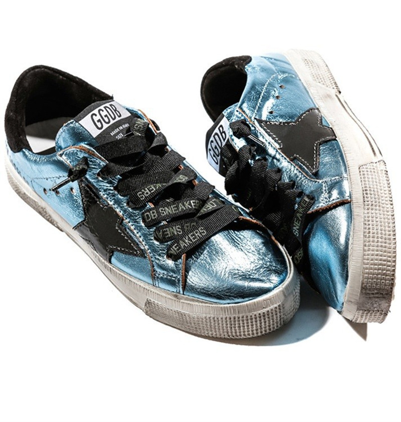 Original Italy Deluxe Brand Superstar Golden Goose Blue Black Sneakers Men Women Flat With Lace Up Low Cut Couples GGDB Shoes
