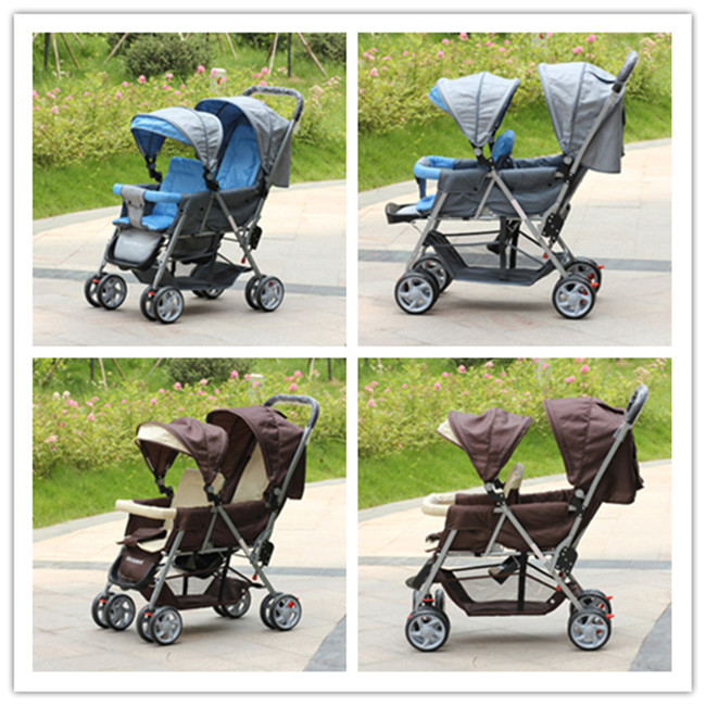Twins Stroller Design Only For Twins Folding Portable Carton Packaging Comfort And Safety Hot Selling On Sale Big Discount<br><br>Aliexpress