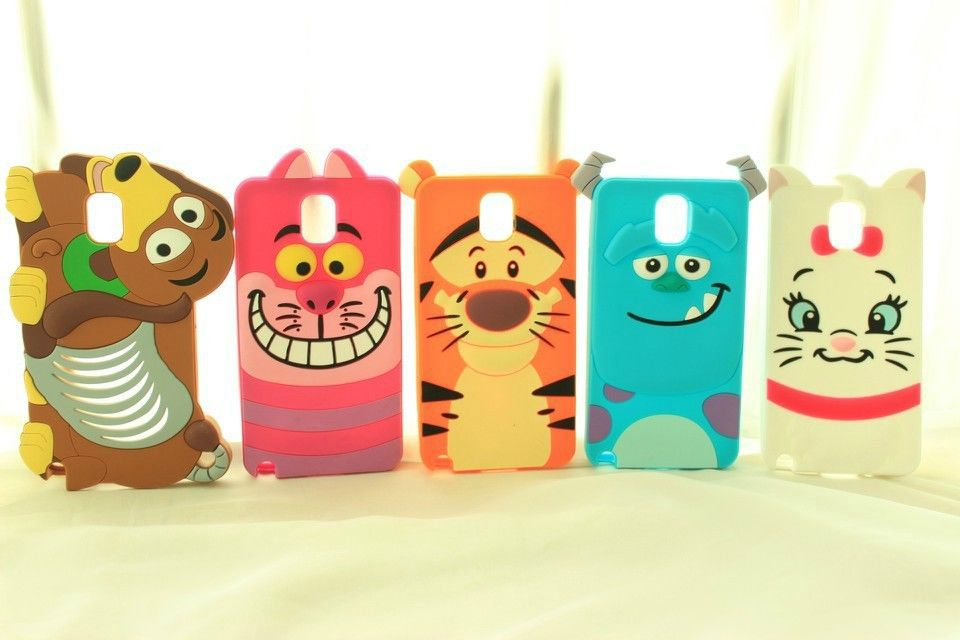 1 PCS/Lot Soft Silicone 3D Cartoon Animal Phone Case Cover Samsung Galaxy Note 3 III Cases Covers - Beauty Mobile store