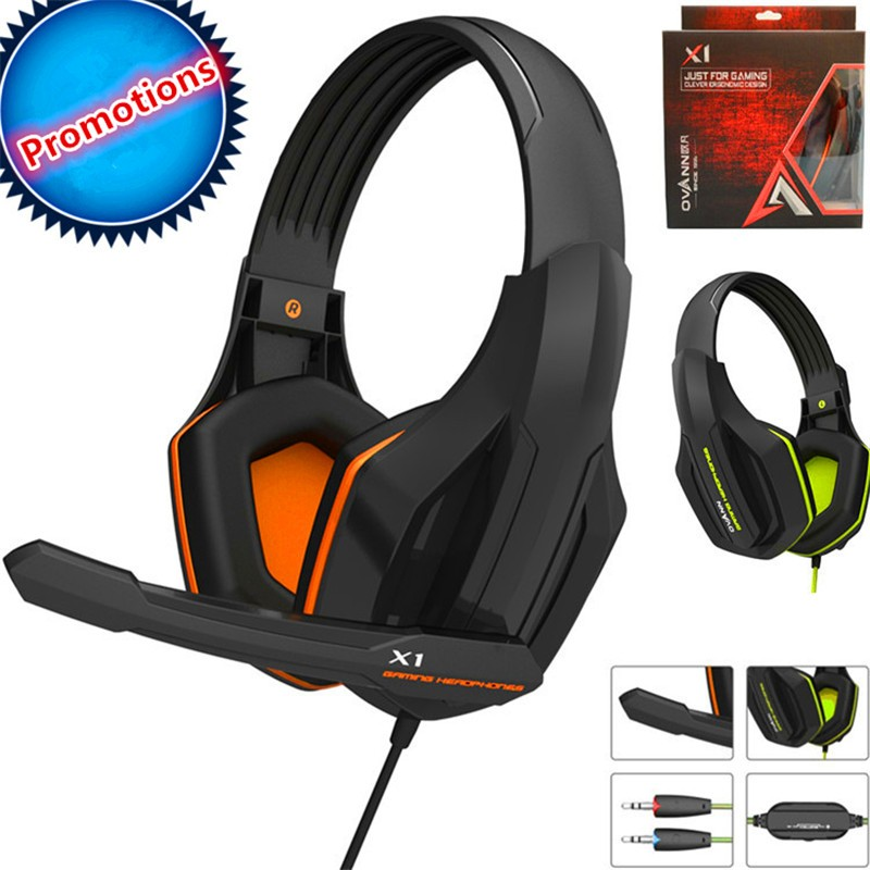 2016 Top Quality Professional Super Bass Over-ear Gaming Headset with Microphone Game Stereo Headphones for Gamer PC Computer