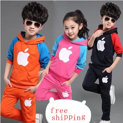 2016 NEW wholesale children sport suit 2 pcs set girls and boys clothing children sping autumn sport suit