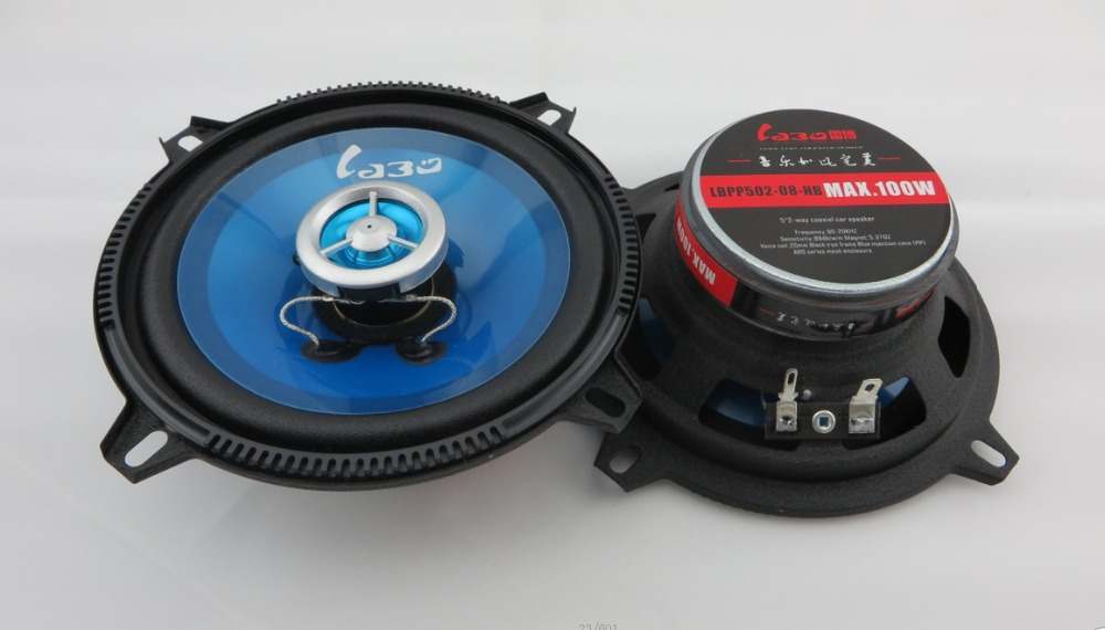 2x 5inch Coaxial car speakers, car speakers sound system Free Shipping(China (Mainland))
