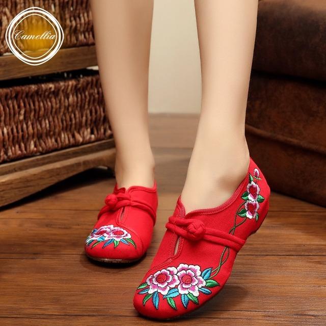 Новинка весна / осень китайском стиле квартиры вышивка женщин свободного покроя ткань ...