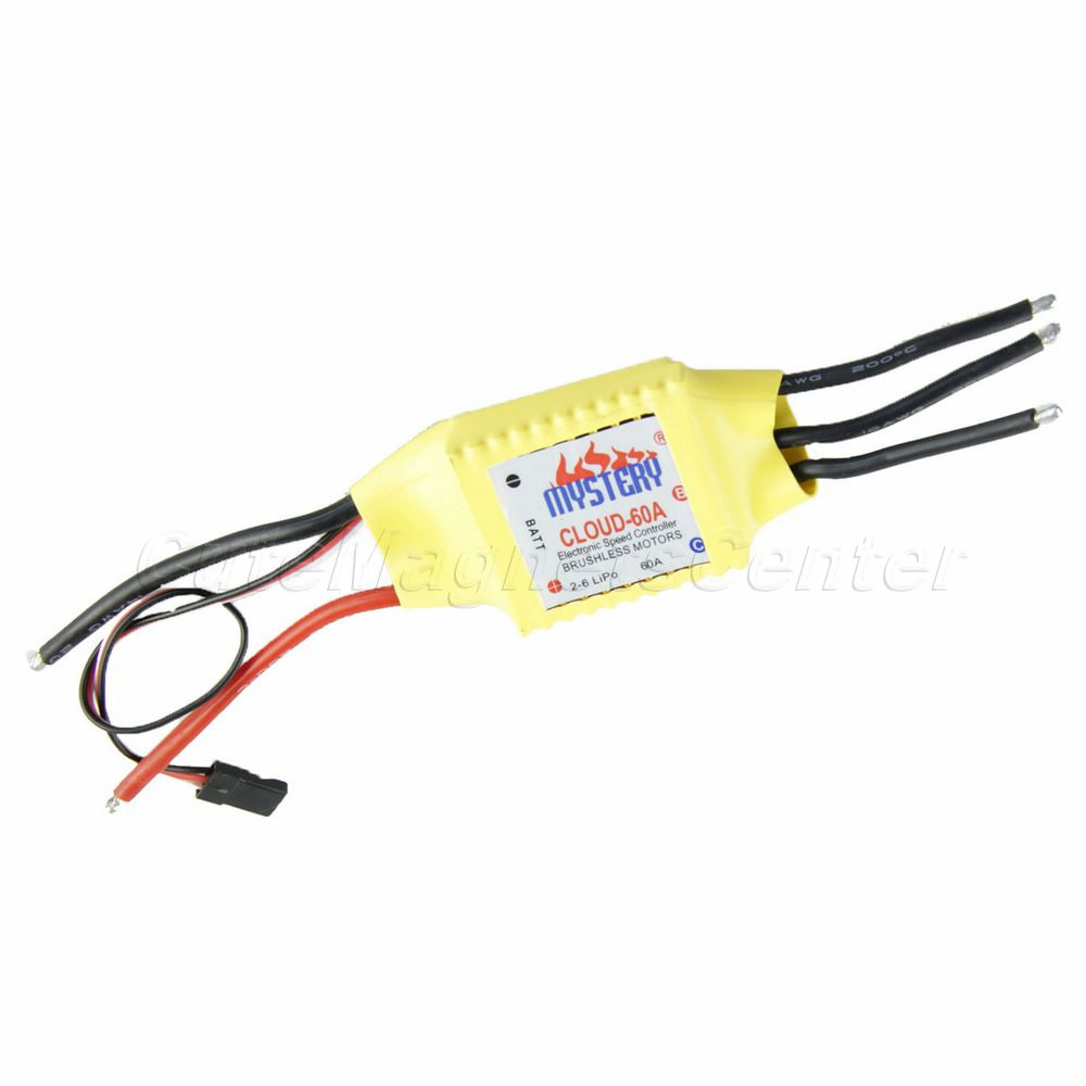 High Quality Airplane Mystery Cloud 60A Brushless ESC RC Speed Controller Ideal For Remote Control Toys(China (Mainland))