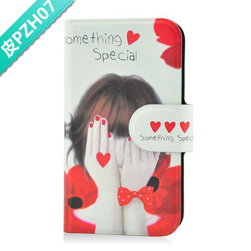 Вырезать девушка красный в форме сердца любовь с бантом искусственная кожа флип чехол для Nokia C5-03 C5-06 C5-05 nokia c5 03