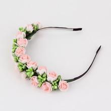 1PC Wedding Prom Hair Accessories Flower Garland Floral Bridal flower headband Hairband