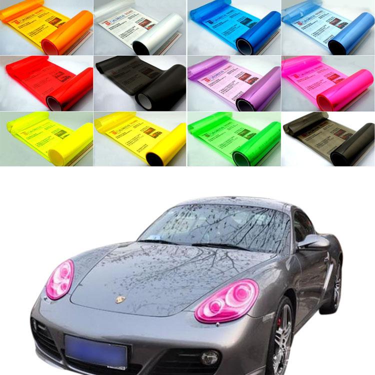Hot sale 30*60cm DCW Auto Car Smoke Fog Light Headlight Taillight Tint Vinyl Film Sheet Sticker Drop shipping(China (Mainland))