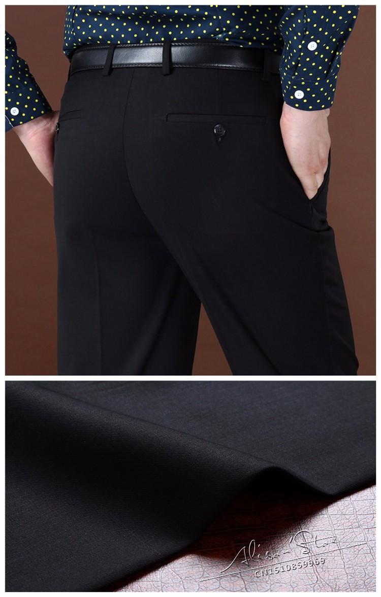 Мужские брюки деловых шерстяной и шелк сгущать брюки зима мужские брюки прямые классические брюки для мужчин 44