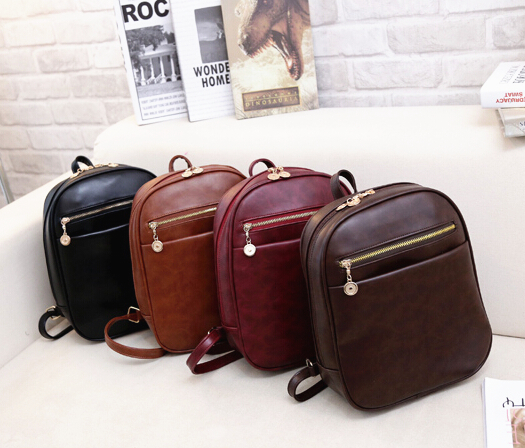 vintage leather school bag hotsale women famous designer small shoulder bags luxury ofertas kids fashion furly candy backpacks(China (Mainland))
