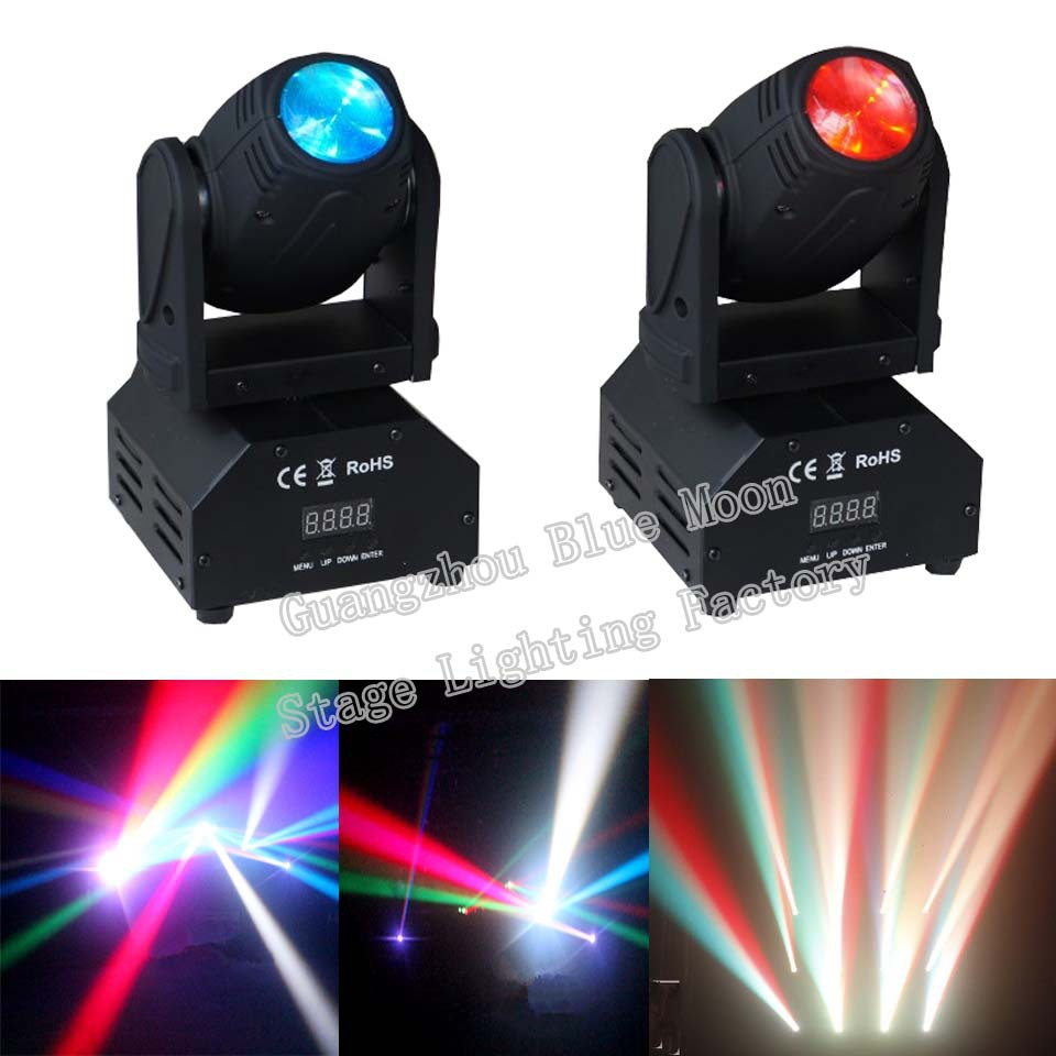 Fast Shipping High Quality CREE LED Moving Head Mini Wash 10w rgbw Quad with Auto, Sound-active & DMX512 Control(China (Mainland))