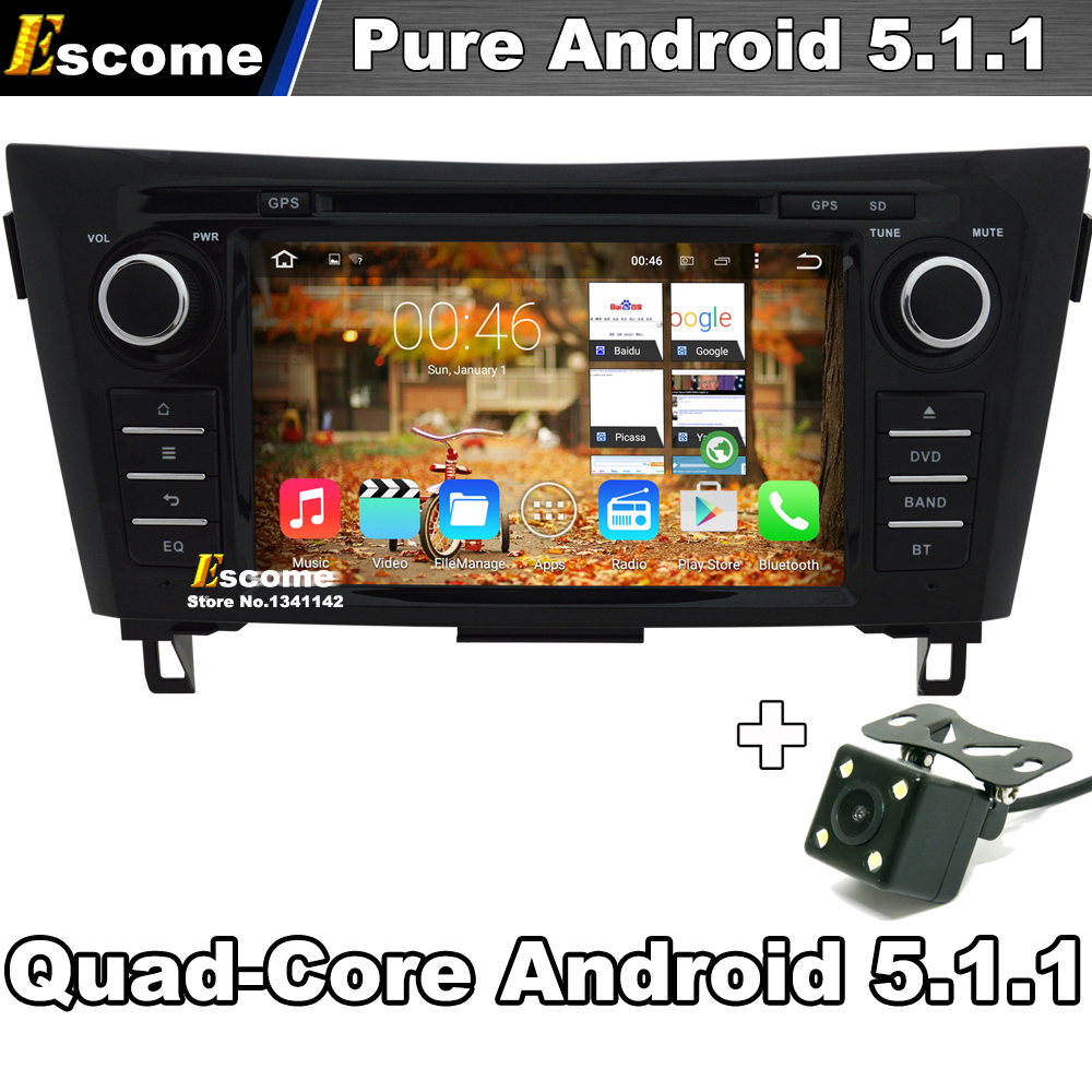 For Nissan X-Trail 2014 2015 Nissan Qashqai 2014 Car Multimedia DVD Player Pure Android 5.1 With WIFI Radio GPS Rear View Camera(China (Mainland))