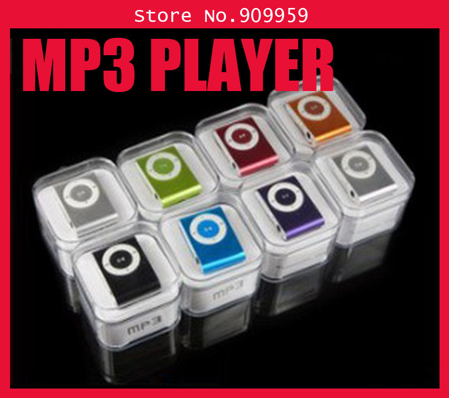 New mini clip mp3 player with earphone,usb cable and retail box 8colors to choose,can support micro sd/TF card!!(China (Mainland))