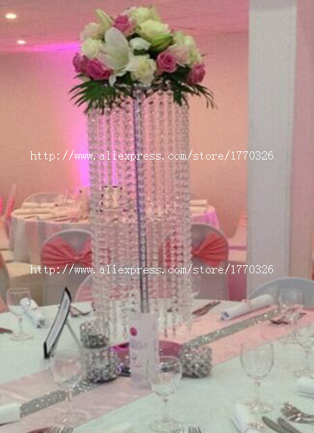 Free shipment 10PCS/lots/ acrylic crystal wedding centerpiece/80cm tall/20cm diameter flower stan(China (Mainland))