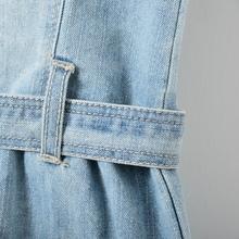 2016 spring summer brand style infant girl denim one piece dress kids sleeveless catimini children jeans