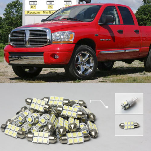 8pcs SMD LED KIT Suitable For 2002~2008 Dodge RAM 1500 Dome Map Interior Lights Rear Trunk License Plate Light Xenon White #41(China (Mainland))