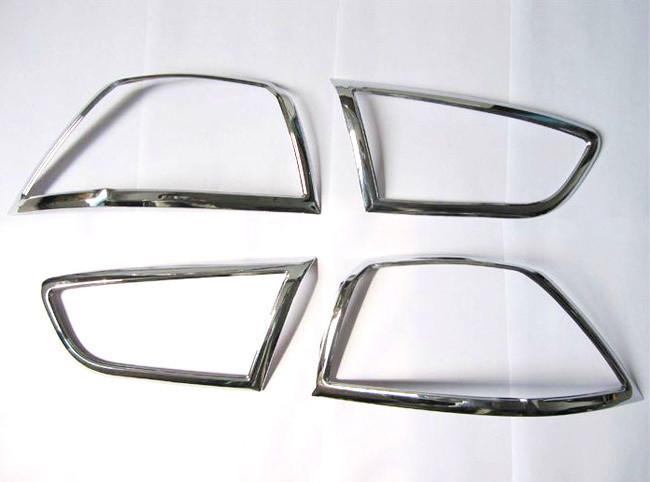 ABS Chrome Rear headlight Lamp Cover For 2010-2013 Mitsubishi Lancer/Lancer X/Lancer Evo