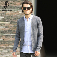 Pioneer Camp.Free shipping!2016 autumn spring new fashion mens cardigan sweaters casual coat thin knitwear coat men clothing(China (Mainland))