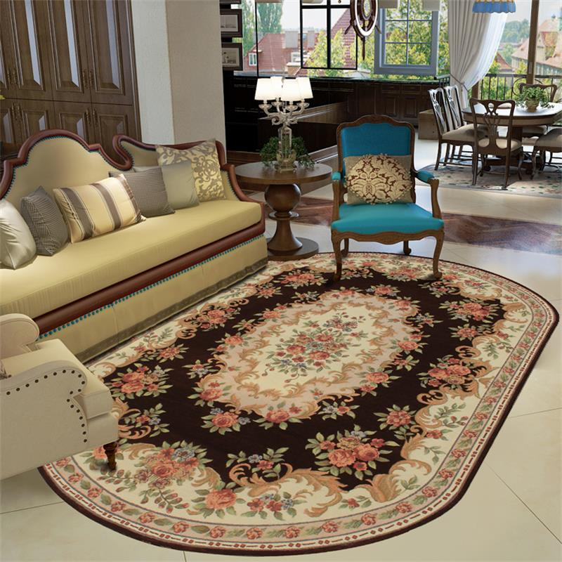 160X230CM Oval Europe Carpets For Living Room Home Bedroom Rugs And Coffee Table Floor Mat