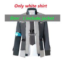 ROLECOS juego de Detroit se convierte en disfraces de Cosplay humanos Conner RK800 traje uniforme chaqueta camisa corbata para hombres fiesta Cosplay ropa(China)