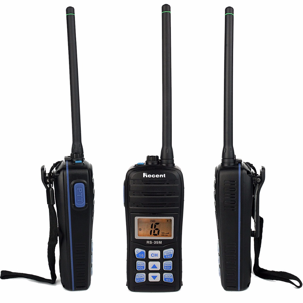 2 pcs Recent RS-35M 70CH Marine Walkie Talkie VHF LCD Float Scan Waterproof IP67 Handheld Transceiver Two Way Ham Radio A7206A(China (Mainland))