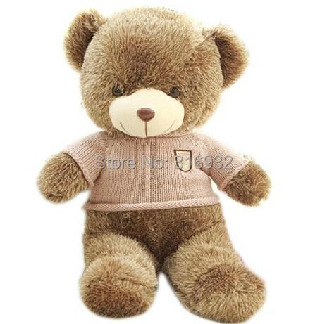 J1 Plush Cotton Light line Brown Giant 55cm Cute khaki sweater Plush Teddy Bear Huge Soft TOY(China (Mainland))