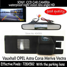 4.3 inch Car Rearview Mirror Monitor Rear View Camera SONY CCD HD Video Auto Vauxhall OPEL Astra Corsa Meriva Vectra Zafira - Fuway HK Trading Co., Ltd store