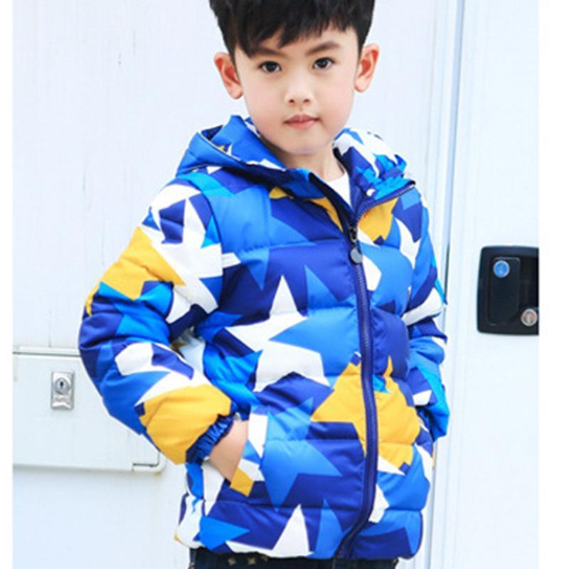 Boy Winter Coat Children Hooded Jacket Handsome Boys Korean Style Kid Thick Coats Kids Parka Camouflage 5807F - Jefferson Brand store