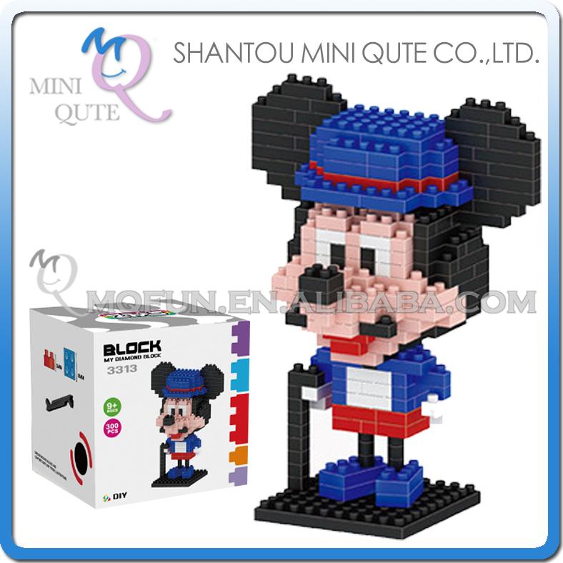 Здесь можно купить  144pcs/lot Mini Qute ZMS kawaii kawaii Big head mouse nano 3d plastic puzzle cartoon model children gift educational toy NO.3313  Игрушки и Хобби