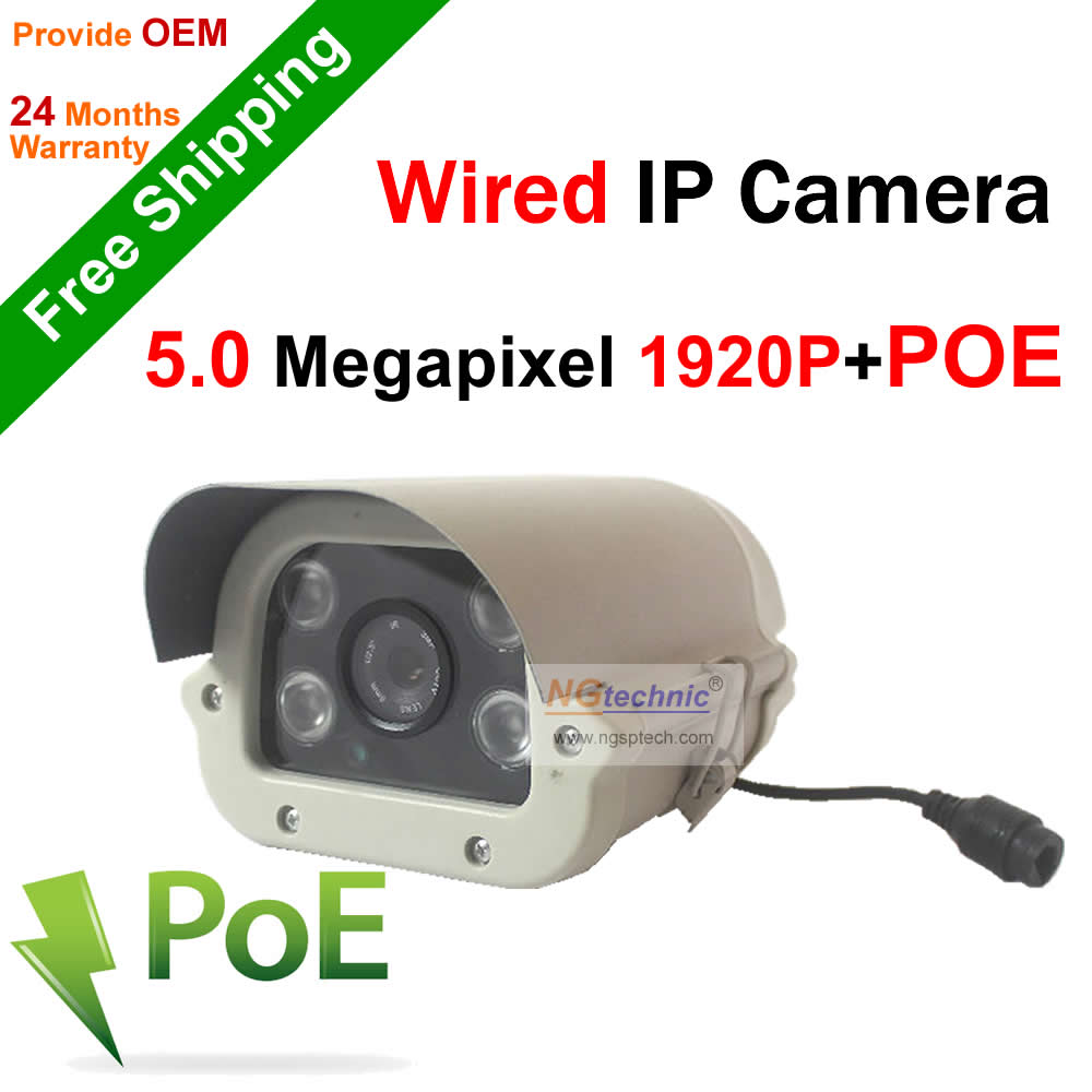 Hot Selling Onvif H.264 5.0 MP HD 1920P Network IP Camera Waterproof Outdoor Camera P2P Plug&amp;Play Support POE seveillance Camera<br><br>Aliexpress