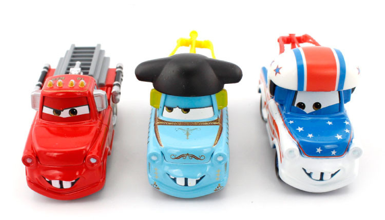 Hot Selling--100% Original Pixar Cars Diecast Figure Toys Collections - Fire Truck Mater, Matador Mater,Daredevil Mater(Hong Kong)