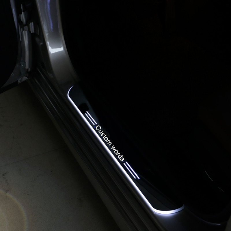 2X COOL !!! custom LED dynamic Illuminated scuff plate threshold sticker car accessories for Infiniti QX50 from 2013-2015(China (Mainland))