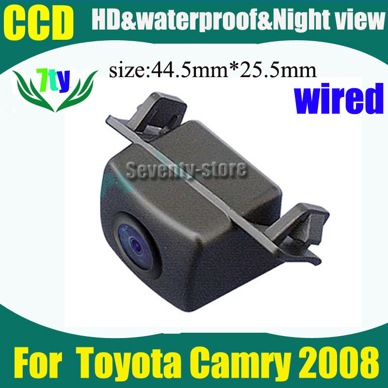 CCD HD wired car parking rear view camera for Toyota Camry 2008 car reverse reaview camera 520TVL Waterproof(China (Mainland))