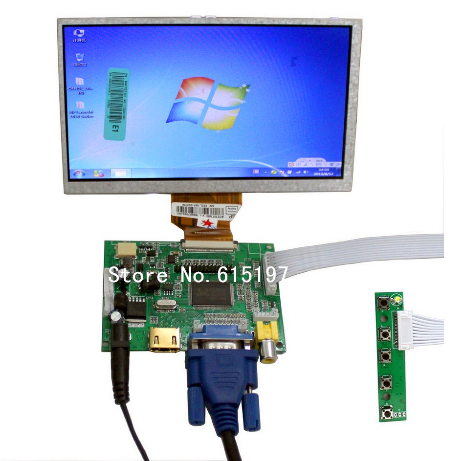 7 raspberry pi lcd touch screen display tft monitor at070tn90 with touchscreen kit hdmi vga. Black Bedroom Furniture Sets. Home Design Ideas