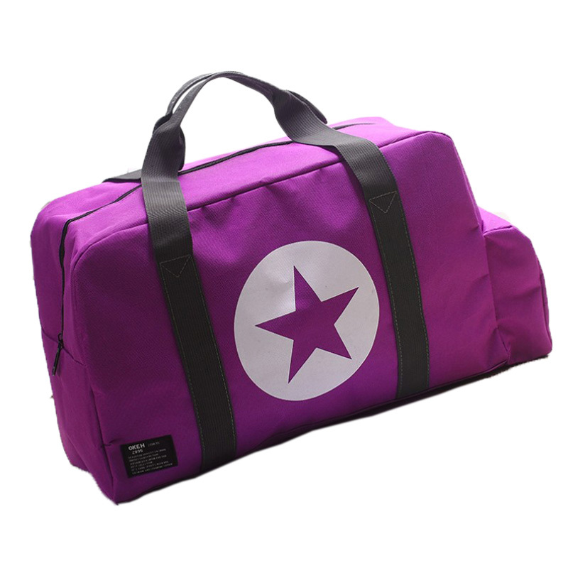 2015 Star solid women luggage travel bags strong polyester waterproof bag trip travel duffle hand luggage big capacity sport(China (Mainland))