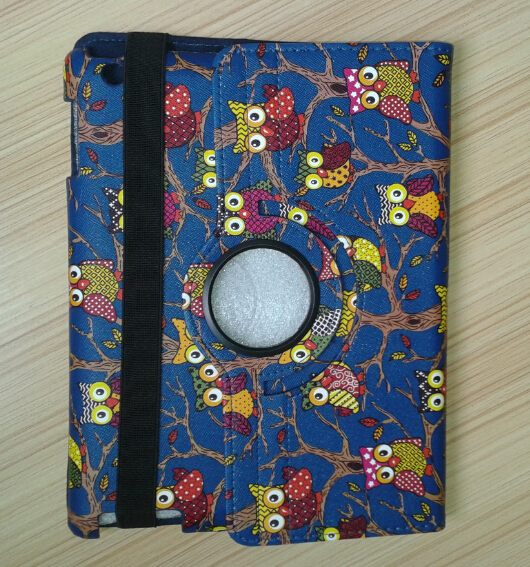 Animal Bird Prints Leather Case for Ipad 2 3 4 Nigh Owl Smart Cover 360 Rotating Stand Funda Holder Capa Cases for Apple Ipad4<br><br>Aliexpress
