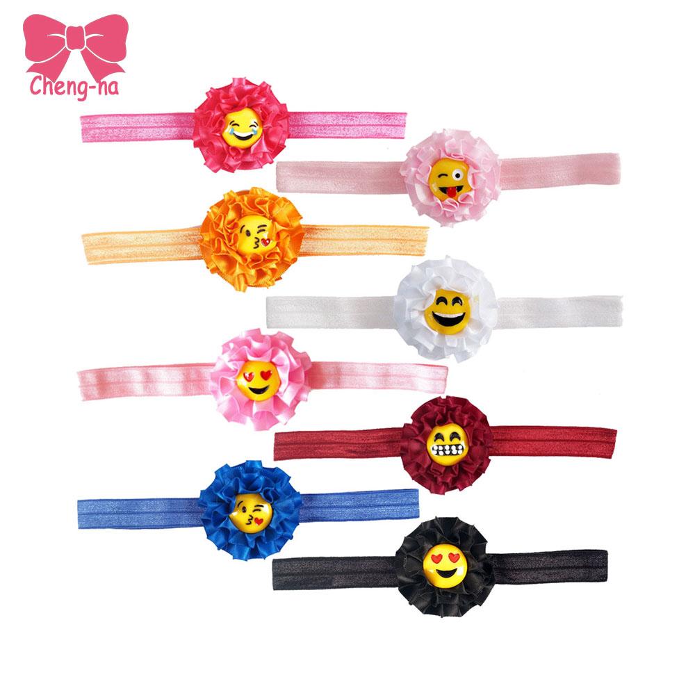 8Pcs/lot Newborn Satin Ribbon Flower Headbands Infant Baby Hairband Children Accessories ForPhotography Props 2016()