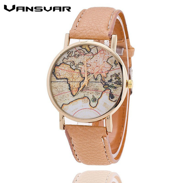 Zegarek damski stara mapa retro różne kolory
