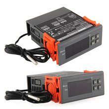 Universal 220V LCD Display Temperature Controller Switch Thermostat Relay Incubation Control W/ Sensor