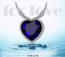 Titantic Heart Of Ocean Love Fashion Crystal Necklaces For Women 2015 Pendant Necklace Jewelry Short Necklace