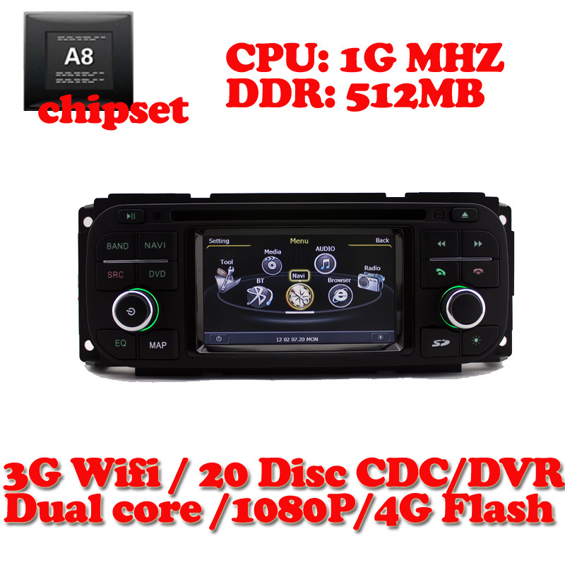 3G Wifi S100 DVD GPS Radio Navigation system For Jeep Grand Cherokee 1999-2004 / Wrangler 2003 2004 2005 / Liberty 2002-2007<br>