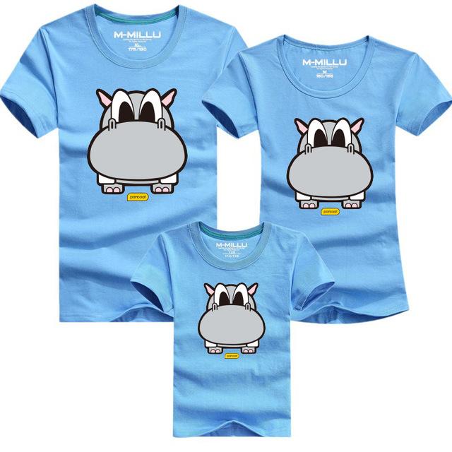 Kindsraum 2016 семья посмотрите мультфильм футболки лето семья соответствующие одежды ...