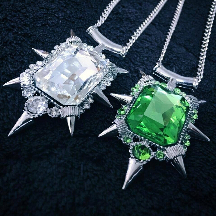 Wholesale Once Upon A Time Zelena Green Crystal Pendant Necklace,the Movie Jewlery(China (Mainland))
