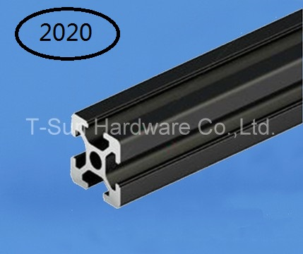 Black Aluminum Profile Aluminum Extrusion Profile 2020 20*20 commonly used in assembling device frame, table and display stand(China (Mainland))