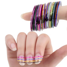 8 pcs Colors Rolls Striping Tape Line Nail Art Sticker Tools Beauty Decorations for on Nail Stickers