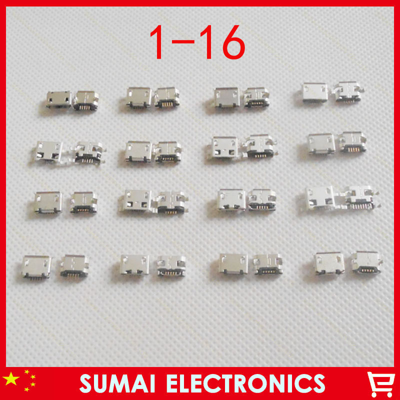 Sample packect!Hot selling widely use 50modles Micro USB Jack Charging Connector For Samsung iphone Lenovo Sony HUAWEI HTC ect<br><br>Aliexpress