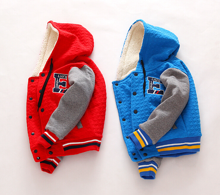 Children Outerwear Clothing Baby Boys Casual Autumn Patchwork Clothes Thickened Letter Coats Hooded Collar Kids Jackets 5pcs/LOT<br><br>Aliexpress