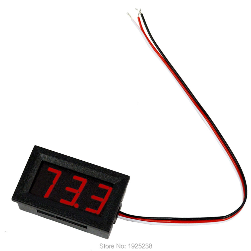 Electrical Instruments Red LED Panel Volt Meter Voltage Meters Testers Mini Digital Voltmeter DC 0V To 99.9V(China (Mainland))