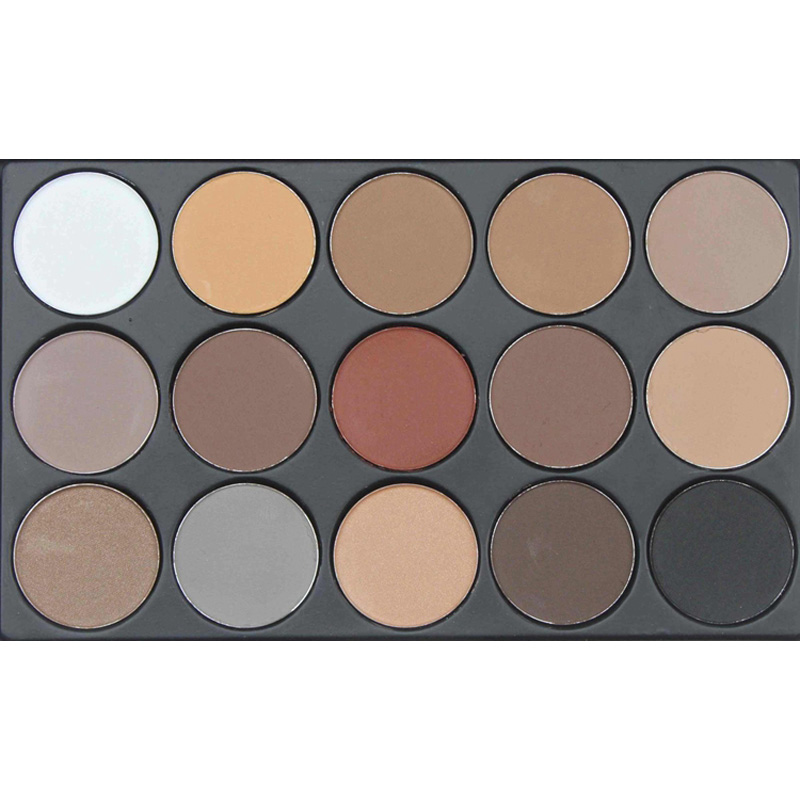 1PCS New Fashion 15 Earth Color Matte Pigment Eyeshadow Palette Cosmetics Makeup Palette Eye Shadow for Women Maquiagem(China (Mainland))